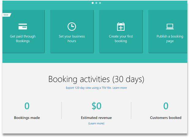 Microsoft Bookings - screenshot