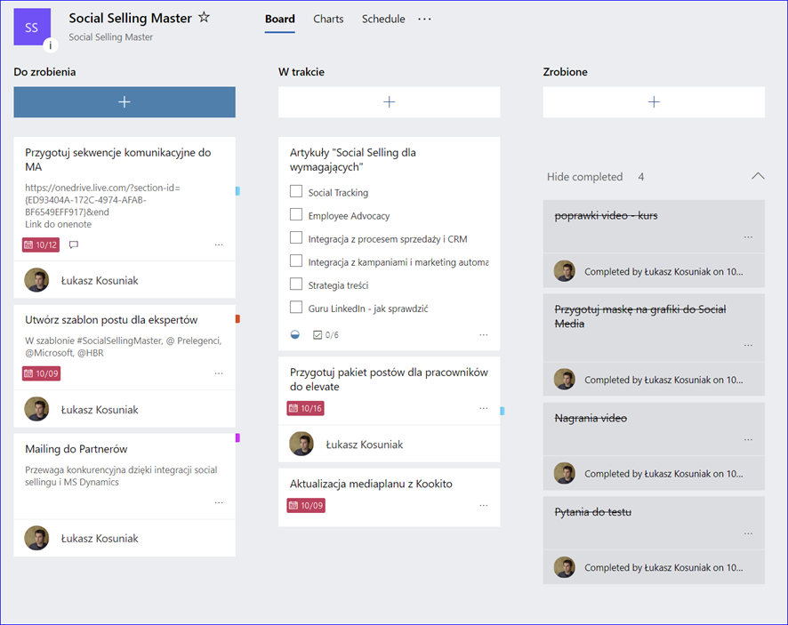 Microsoft Planner - practical example Grow Consulting